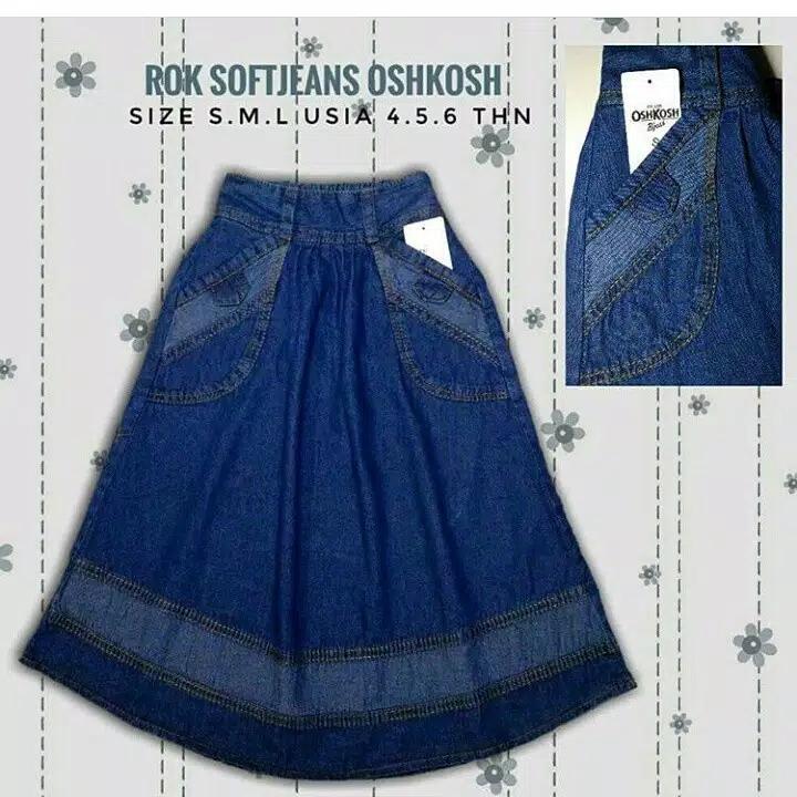 Rok Jeans Anak Perempuan 4-10 Tahun