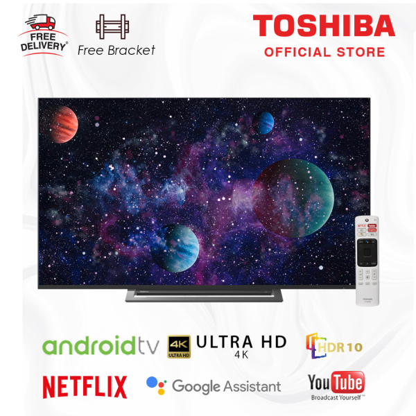 Toshiba 4K LED Android 9.0 Smart UltraHD 50 inch TV [Free Bracket] 50U7950 - Google Youtube Netflix