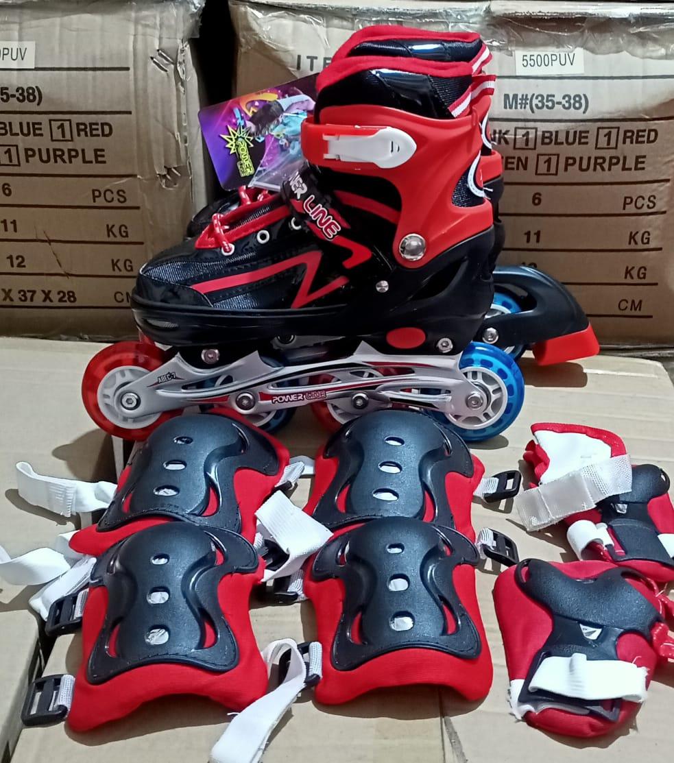 Sepatu Roda Anak INKLINE Model BAJAJ Plus Deker Pelindung