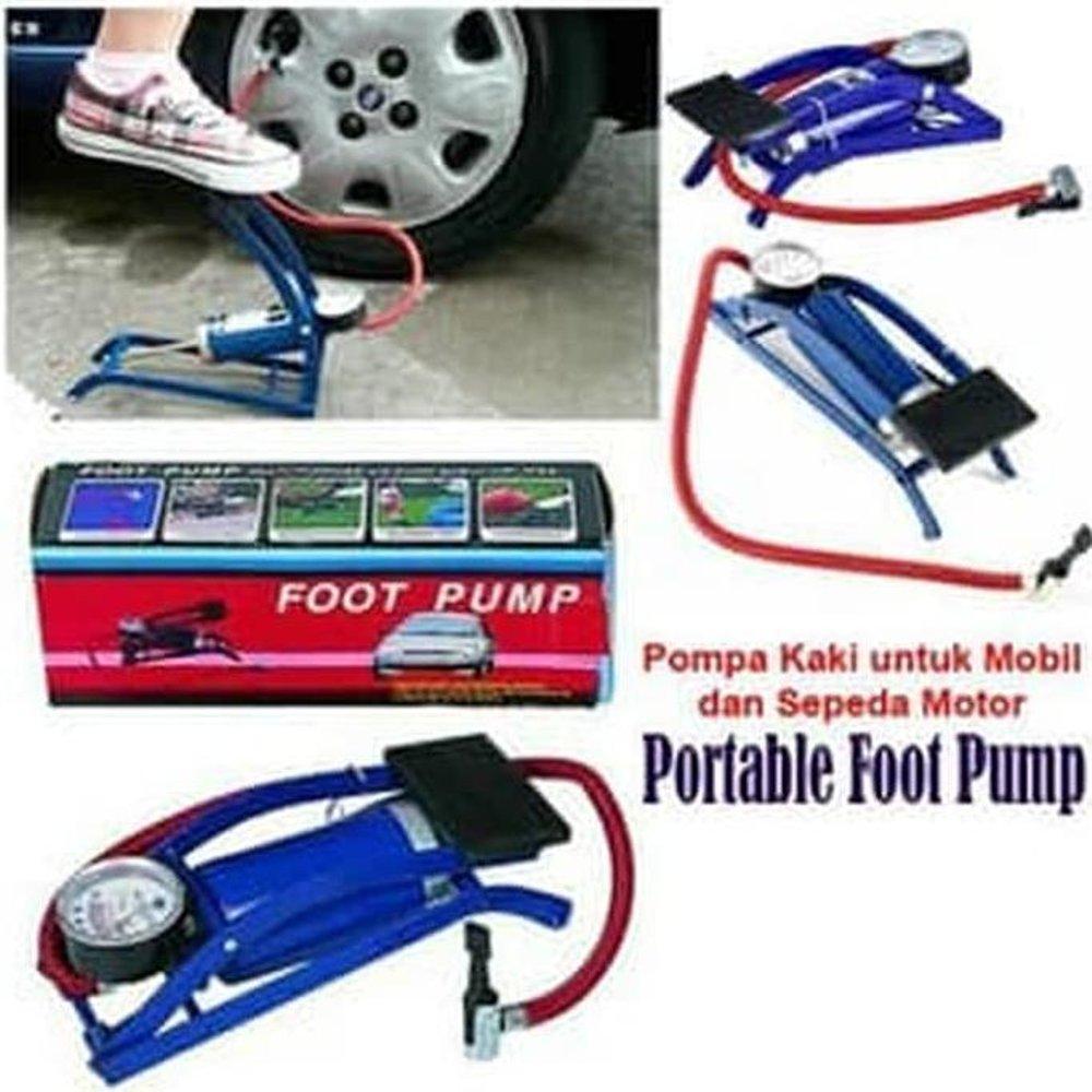 Cs Jaya Pompa Injak Darurat Foot Pump (bisa Untuk Ban Mobil Motor Sepeda Dl) By Cs Jaya.