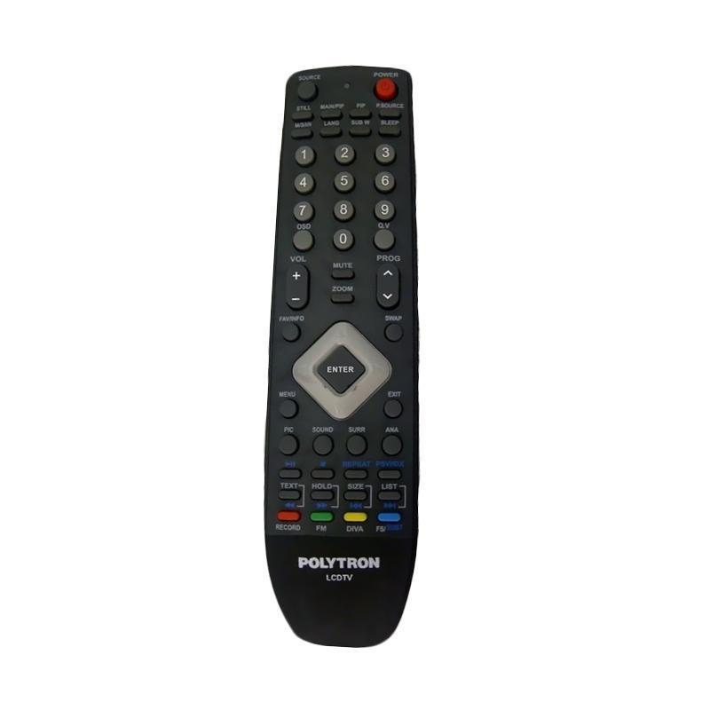 Remote TV Polytron Original 100% - Remote TV LCD LED LLS89 - HITAM.