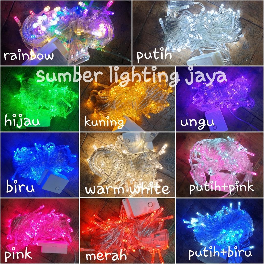 Lampu Tumblr Led 10 Meter / Lampu Natal Hias / Lampu Dekorasi Unik 10m By Sumber Lighting Jaya.