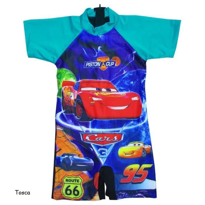 Baju Renang Diving Anak 2-5 Th Karakter Cars BRDL-JRK052, Tosca
