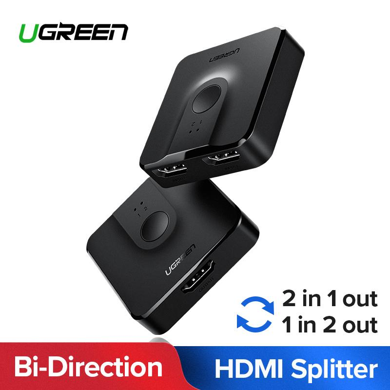 Ugreen Hdmi Splitter Switch Bi-Direction 4k Hdmi Switcher 1x2/2x1 Adapter 2 In 1 Out Converter For Ps4/3 Tv Box By Ugreen Flagship Store.