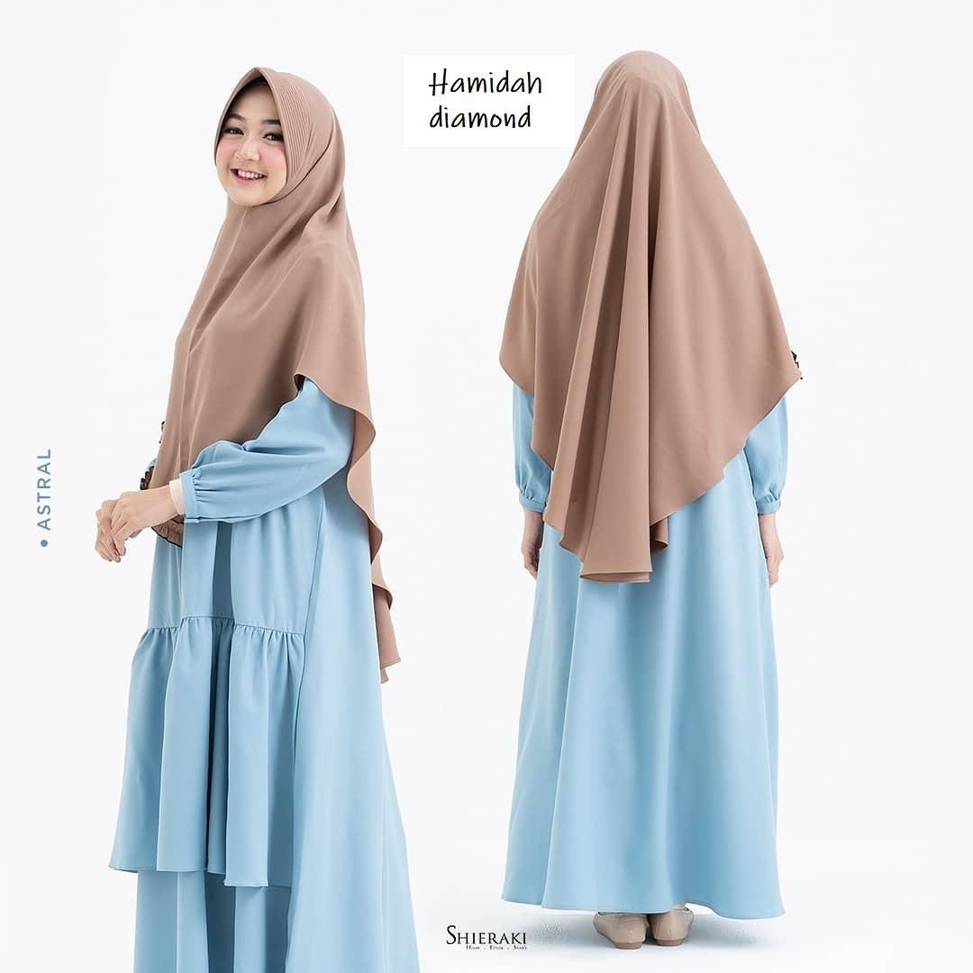 jilbab khimar DIAMOND HAMIDAH khimar pet syari  khimar jumbo Jilbab Antem Kerudung Instant Instan Terbaru Hits 2019