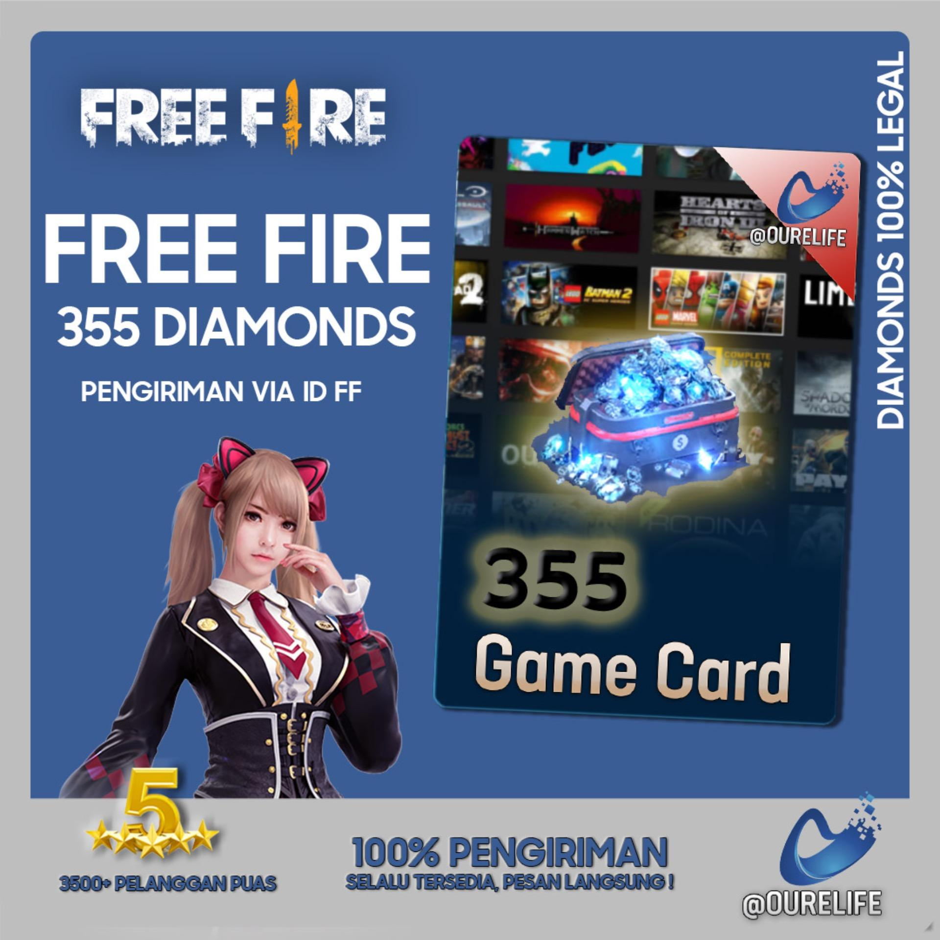 Top Up 355 Diamond Free Fire By Ourelife.co.id.
