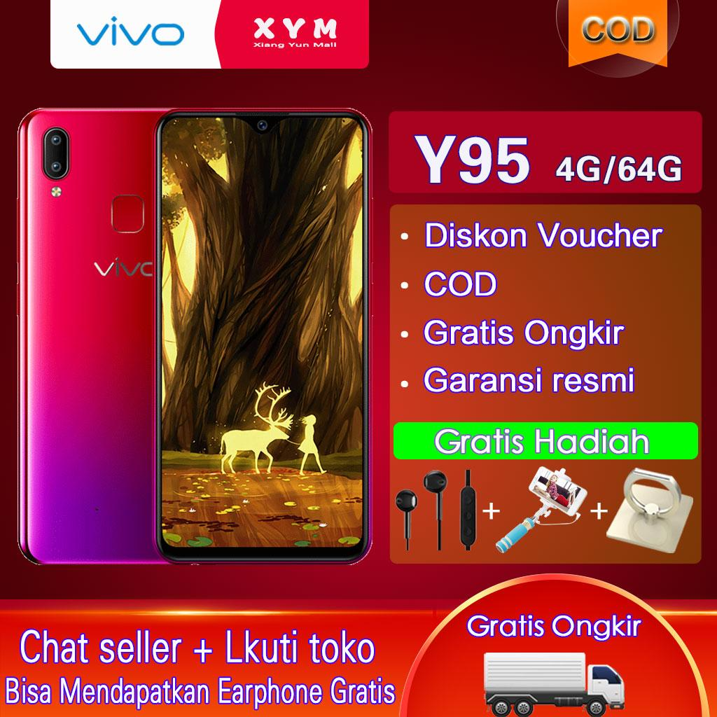 Vivo Y95 hp 4G+64G - COD, Gratis Ongkir, AI Dual Rear Camera, 4030mAh Battery, Garansi resmi [ Please use the voucher ]