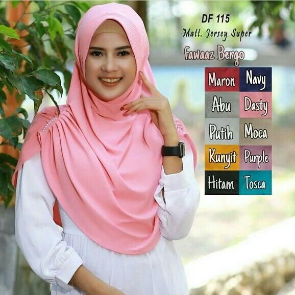Baju Muslim Modern JILBAB FAWAZ BERGO Bahan JERSEY Model Terbaru Dan Kekinian Bahan Adem Model Elegant Khimar Syar'i Muslim Kerudung Instan Terbaru Dan Termurah Kerudung Model Lucu Dan SIimple