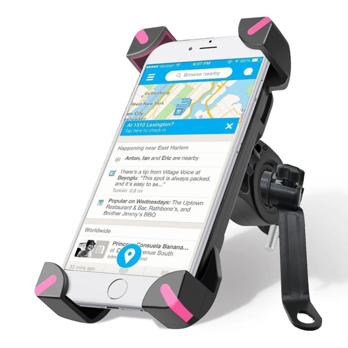 Bracket HP Holder Motor Spion Model X Grip Dudukan Penyangga Handphone Jepit 4 Sudut Sisi