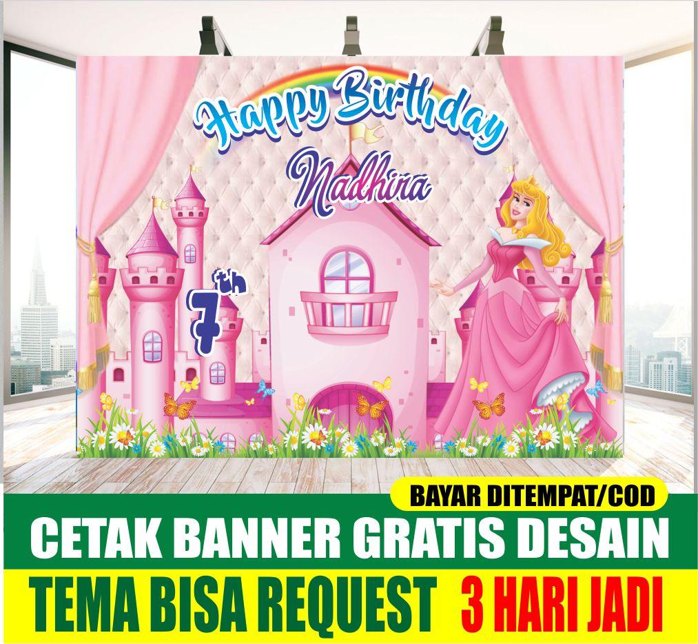 Cetak Banner Spanduk Ulang Tahun Anak Tema Princess Barbie Cewek Perlengkapan Ultah Backdrop Wallpaper Dekorasi Ulang Tahun Hiasan Ultah Proses Cepat 3 Hari Jadi Tema Bisa Request Murah Lazada Indonesia Banner ulang tahun anak perempuan