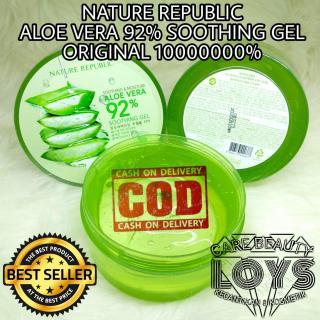 Nature Republic Soothing & Moisture Aloe Vera 92% Soothing Gel 300ml - Jaminan Original 100% - ALOE VERA ASLI - COD Bayar Di Tempat Best Seller LCBeauty thumbnail