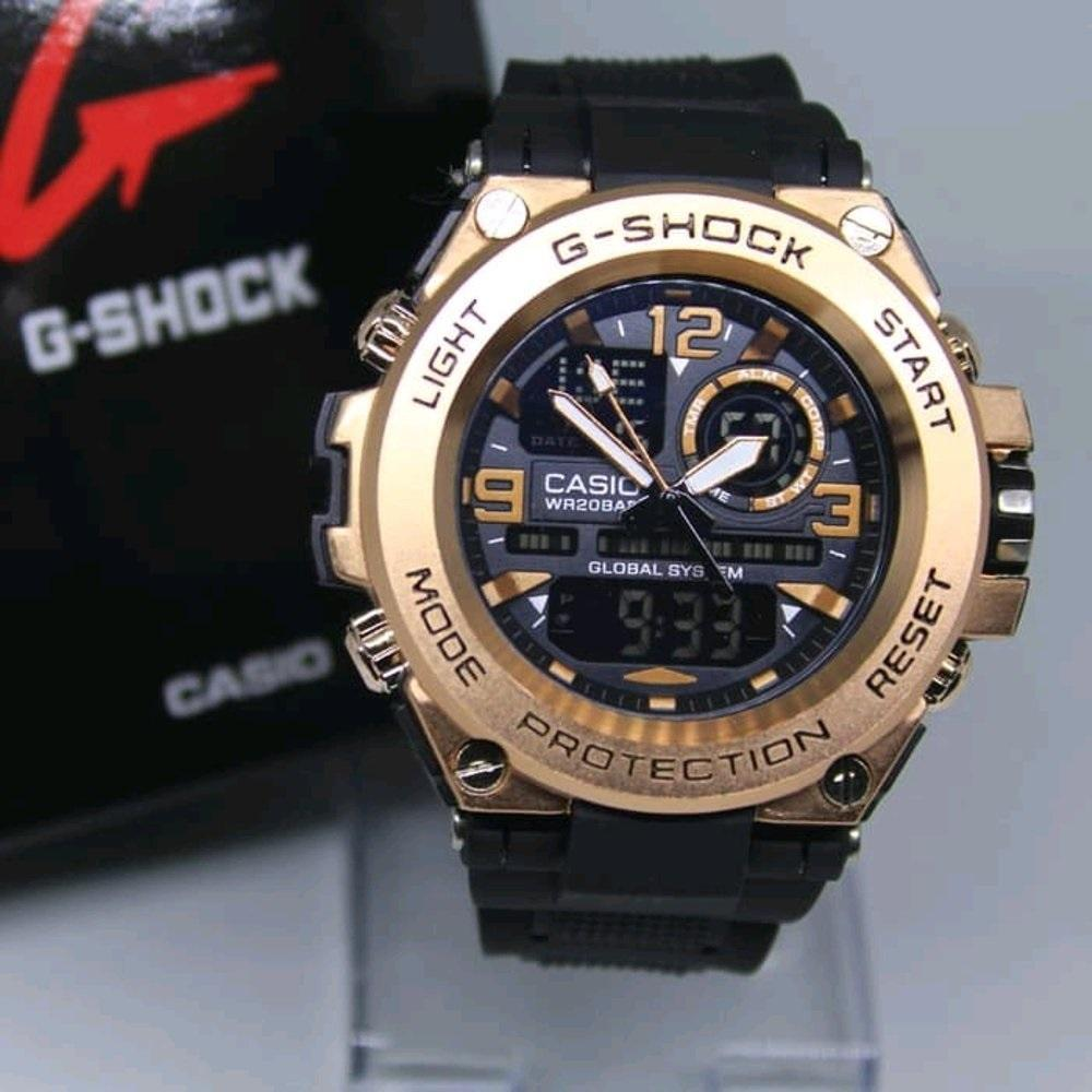 jam tangan pria sporty Casio G Limited edition - dual time - rubber strap 8770439a9c