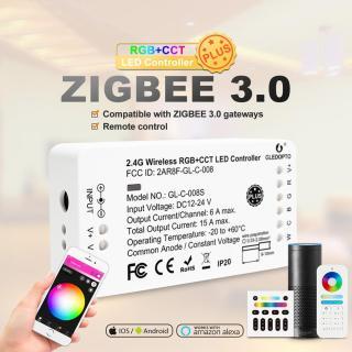Bộ Điều Khiển LED Zigbee RGBCCT S _ Way, Điều Khiển Thông Minh Với Nguồn RGB CCT, Làm Việc Thông Minh Với Ứng Dụng Cổng 3.0 Của Amazon Alexa Echo, Điều Khiển Từ Xa 12V 24V thumbnail