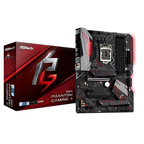 ASRock B365 Phantom Gaming 4 LGA1151/ Intel B365/ DDR4/ Quad CrossFireX/ SATA3&USB3.1/ M.2/ A&GbE/ATX Motherboard
