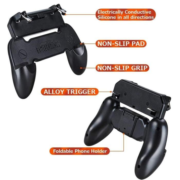 Gamepad Holder Plus Tombol Trigger Key Shooter L1 R1 PUBG ROS Type W10