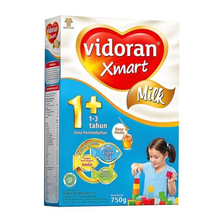 Susu Vidoran Xmart 1+ Vanila / Madu Kemasan baru 725 gram