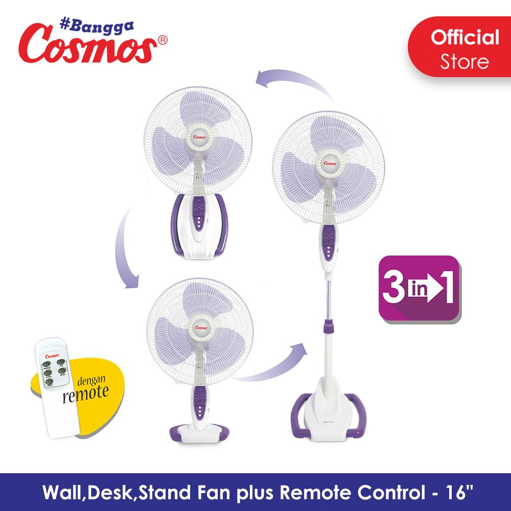 Cosmos 16 SO88 - Kipas Angin / Stand Fan 3in1 16 inch (Wall, Desk, Stand)