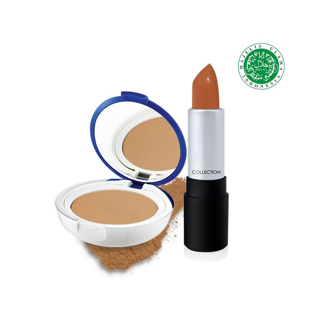 Holiday Bundle Lip Color x Venus Bedak Two Way Cake