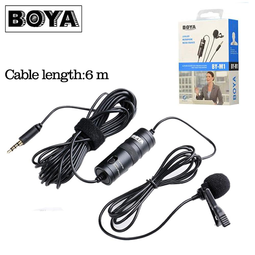 Rp 158.000. BOYA BY-M1 Lavalier Condenser Microphone Portable Mini 3.5mm Lapel Clip On Mic For ...