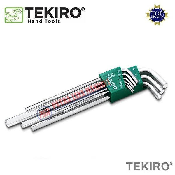 TEKIRO Kunci L Set Panjang 8pcs / Hex Key Long (2-10mm)