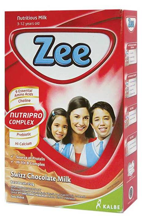 Zee Susu Bubuk Instant Swizz Chocolate 350G