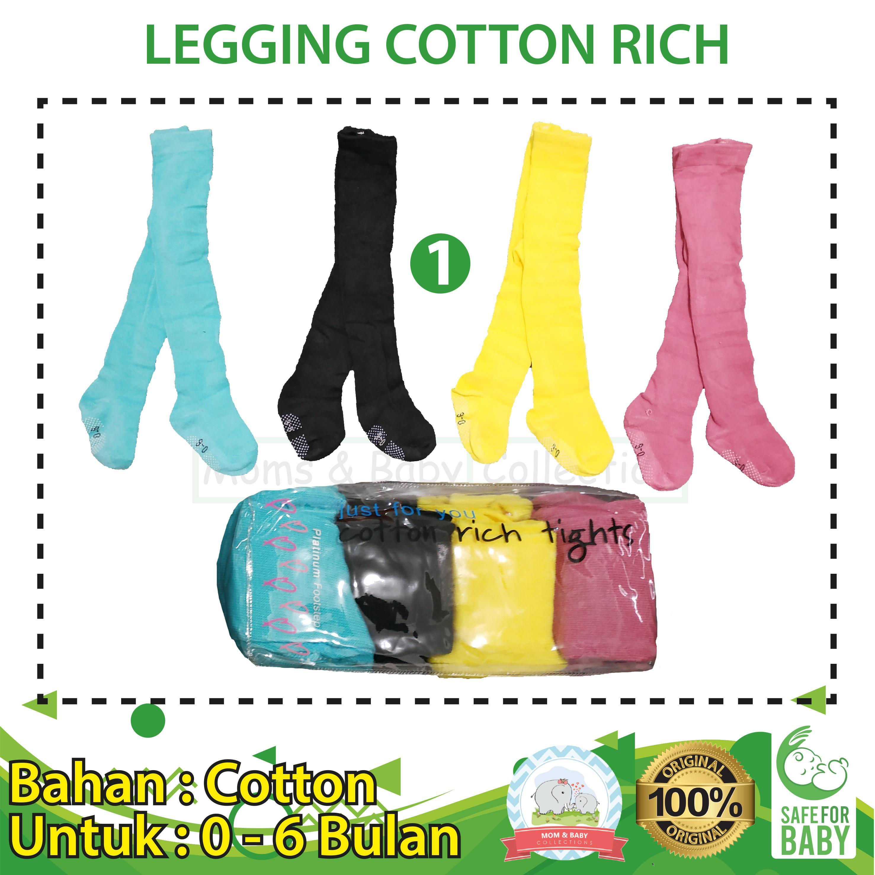 Legging Bayi Cotton Rich 4 In 1 Uk 0 - 6 Bulan