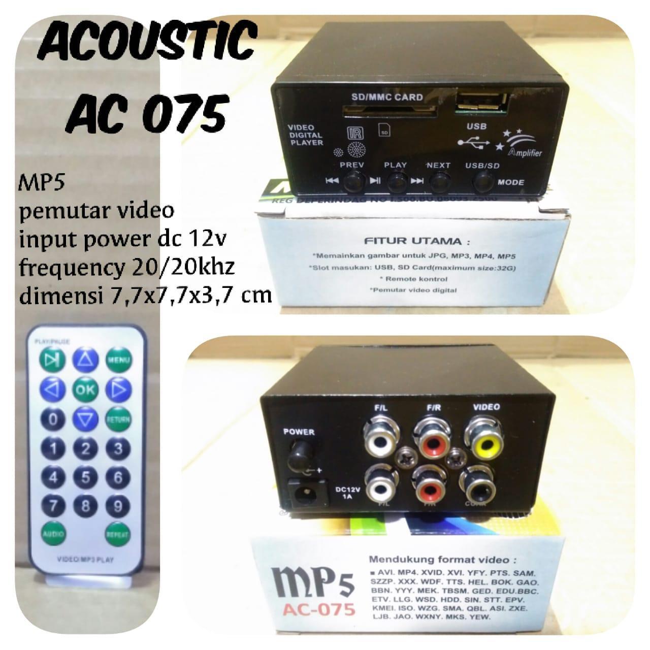 alat pemutar PLAYER MP4 MP5 MP3 USB VIDEO film ac dc LTHS