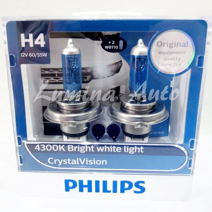 [ High Quality ] Philips Crystal Vision H4 60/55W - Lampu mobil halogen