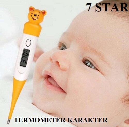 Thermometer Digital 7 Star - Termometer Digital Elastis Karakter Animal Alat Pengukur Suhu Badan Anak - Random By 7star Id.