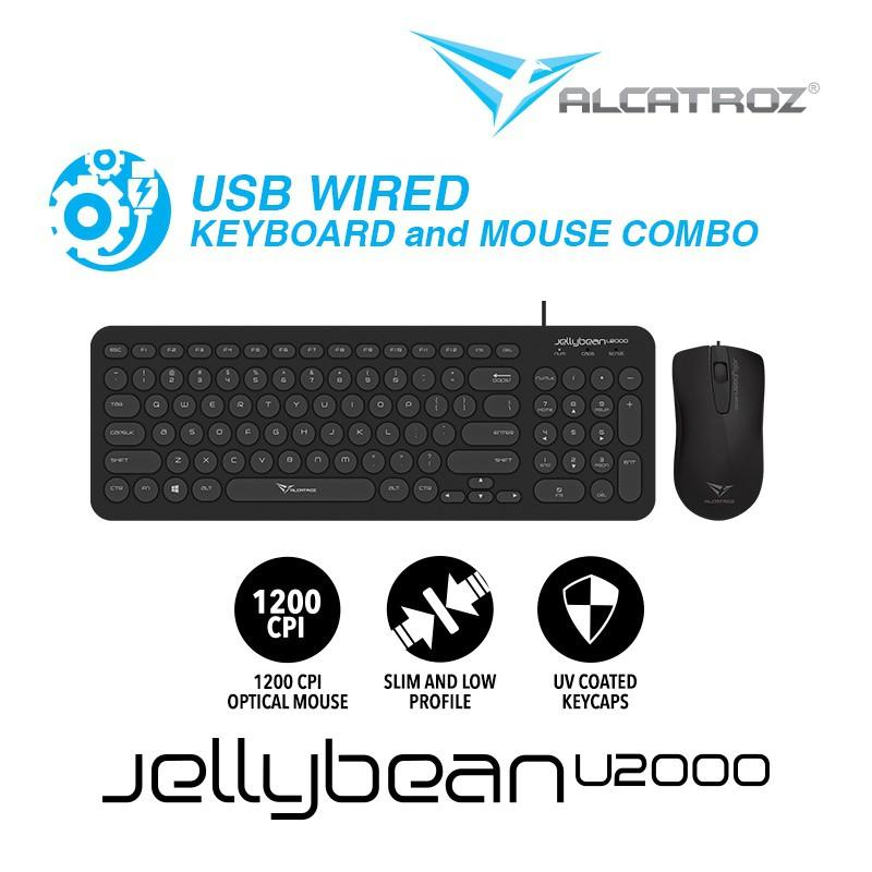 a4c5ef8a212 Alcatroz Combo Keyboard & Mouse Wired JellyBean U2000 [ 2 Tahun Garansi  Resmi ] [ Product