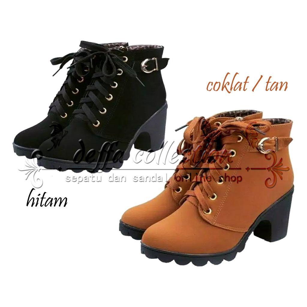SEPATU WANITA BOOTS HIGH HEELS Boots, Ankle Boots Hak