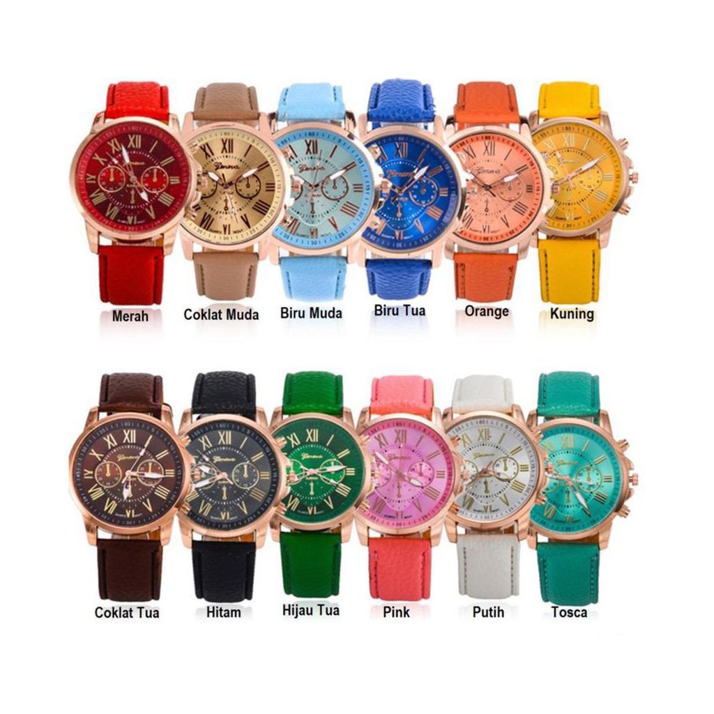 Geneva 263 Jam Tangan Wanita Analog Diamond Lady Wrist c7b0867482