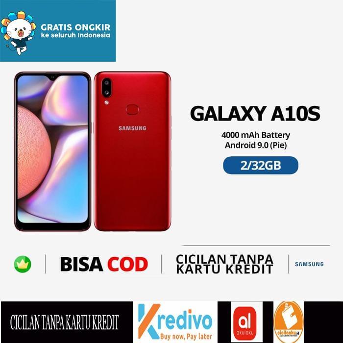 Samsung Galaxy A10S Smartphone [2GB/32GB] red Garansi Resmi SEIN DIJAMIN MURAH