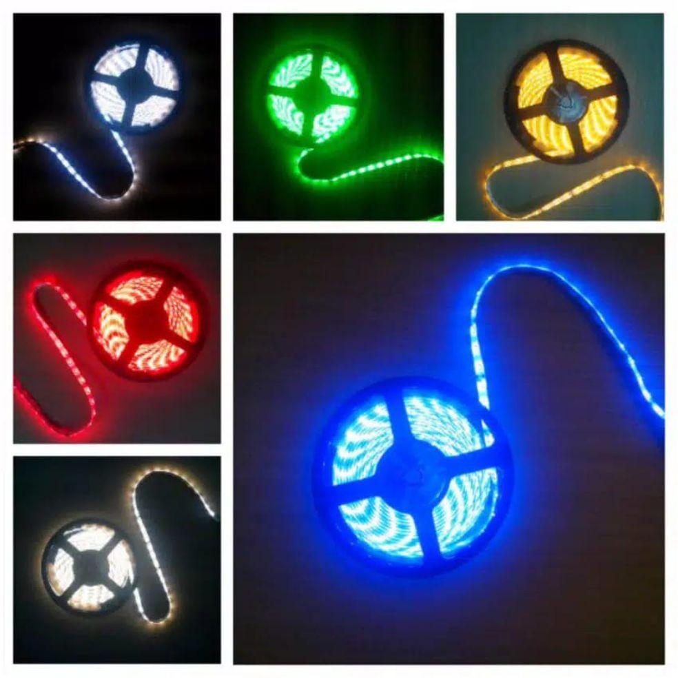 Lampu LED strip roll 5meter Led strip 3528 24volt