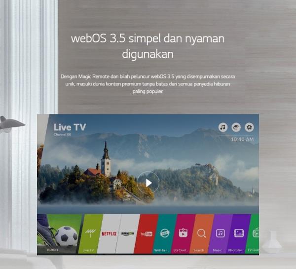 [DISC] LG LED TV 55UJ652T 55 Inch UHD Smart TV - Hitam