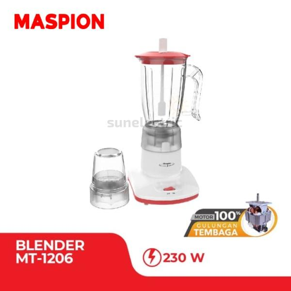 Maspion MT-1206 Blender Plastic + Dry Mill 2-in-1 Kapasitas 1 Liter
