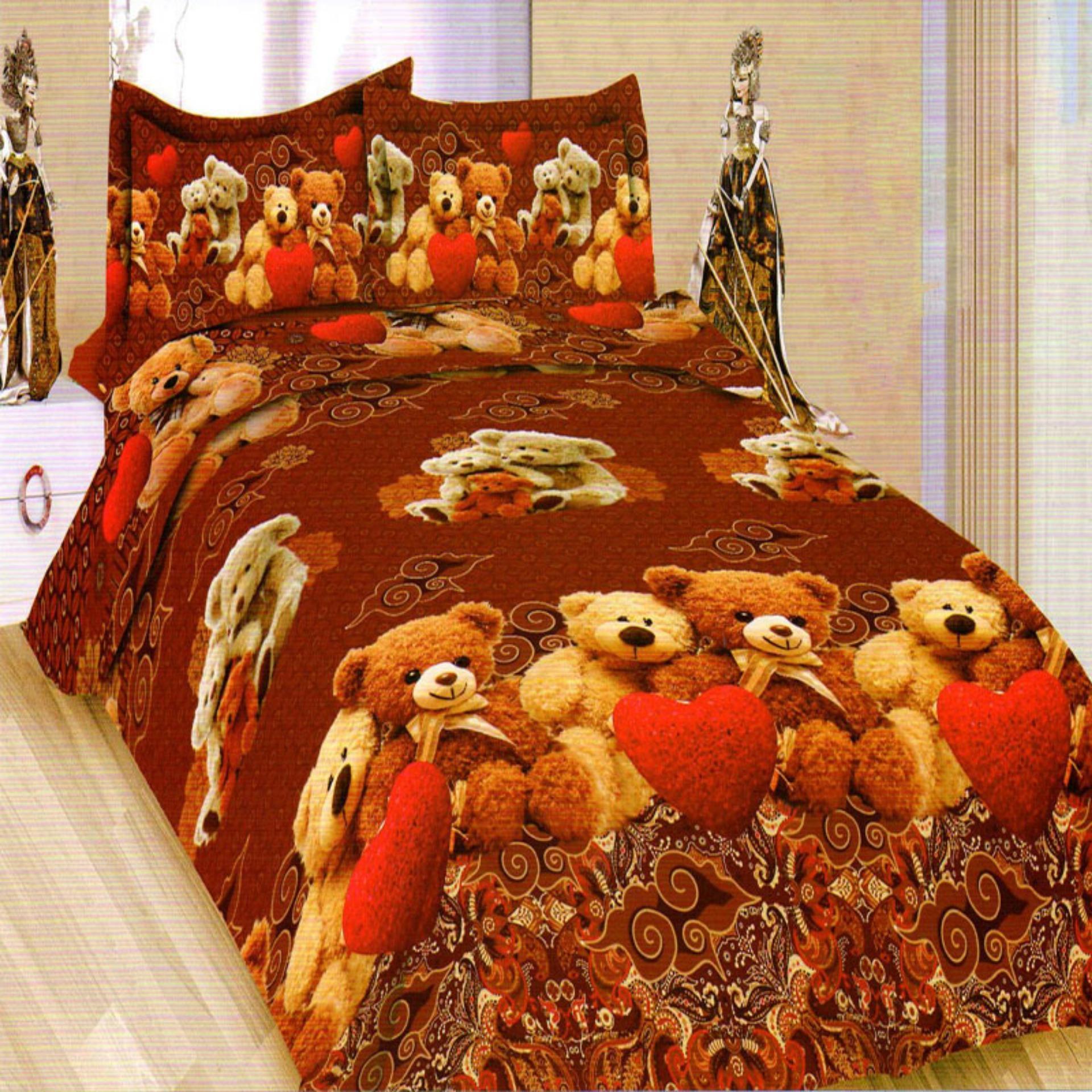 Bonita Sprei King 3D Motif Java Teddy - 180x200 cm