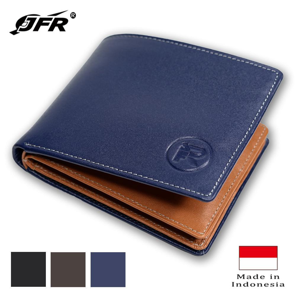 JFR Fashion Dompet Pria Bahan Kulit Asli JS-06 Tekstur Nafa Pori