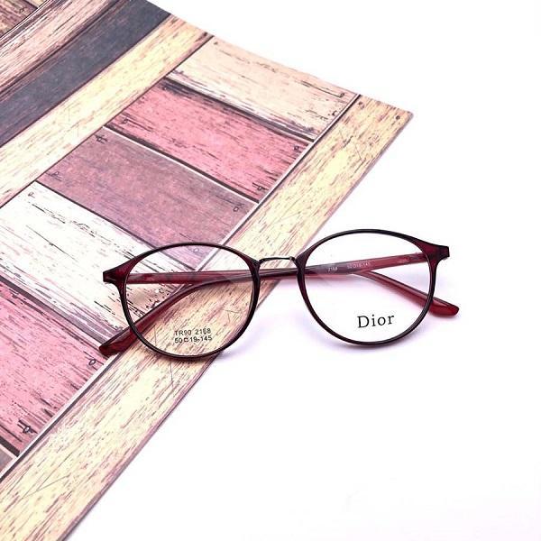 Kacamata DR2168-H75P145L46 Bahan Resin Unisex Lensa Clear Frame Maroon Bisa  Tambah Resep - Dan cf59cfe088