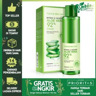 Bioaqua Aloe Vera 92% Toner Refreshing & Moisturizing Toner Essence - 120ml - 1 Buah thumbnail