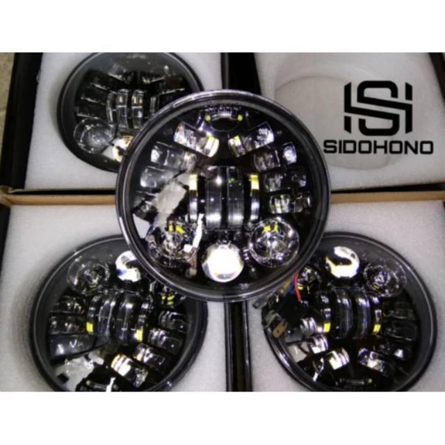 Lampu depan daymaker 16 LED original DOT SAE hitam CB GL MP GL100 Tiger Tirev Vixion Rxking Scorpio