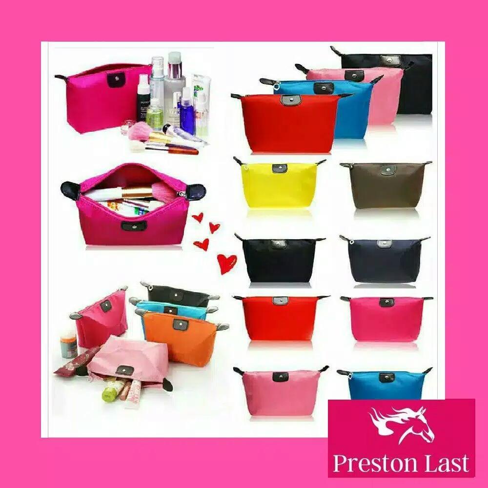 Preston Last - Tas kosmetik pouch polos dompet wanita import ZTPS