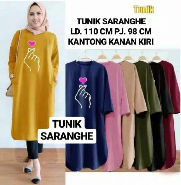 Fashion Hunter Cod Real Picture Tunik Saranghe Tunik Wanita Tunik Muslim Tunik Trend 2020 Baju Wanita Baju Muslim Baju Lebaran Lazada Indonesia