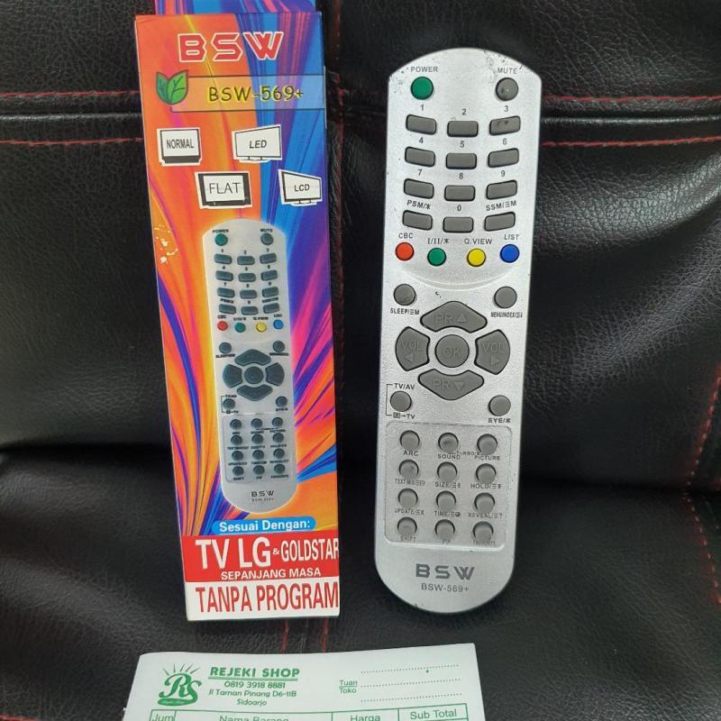 REMOTE TV LG MERK BSW 569+ UNTUK TELEVISI TABUNG LG / GOLDSTAR SIDOARJO
