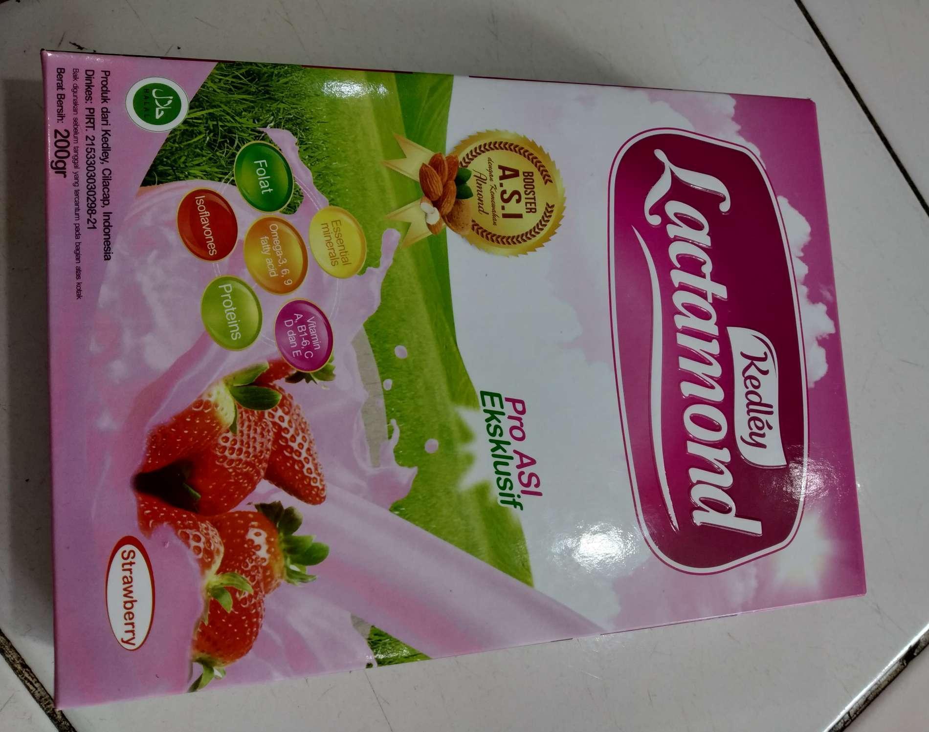 HERBAL PELANCAR ASI ASI BOSTER ISTIMEWA lactamond rasa strawberry - cod