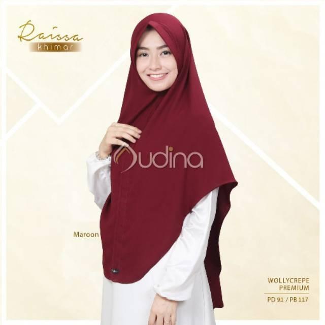 HOT SPESIAL!!! Raissa Khimar Audina ori Jilbab Instan Syari Wolly Crepe premium Pet Antem Hijab sehari hari