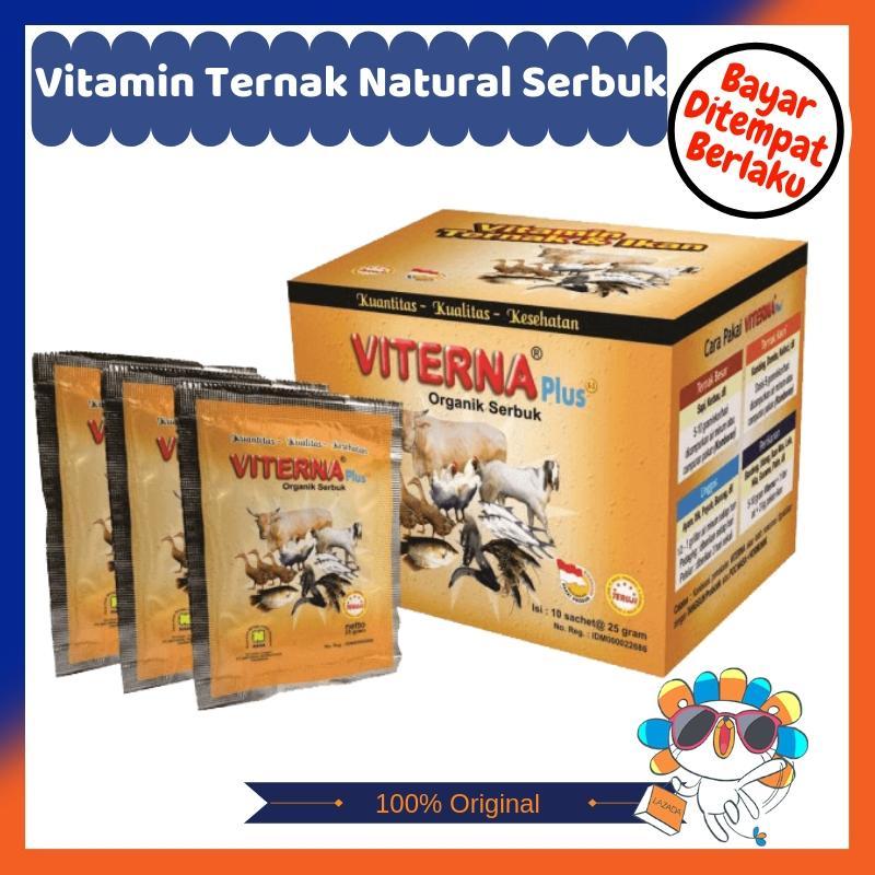 Nasa - Viterna - Vitamin Ternak Natural - Viterna Nasa - Fiterna - Pakan Ternak Organik - Vitamin Hewan Ternak - Kemasan Serbuk 250 Gr By Cso-Shop.