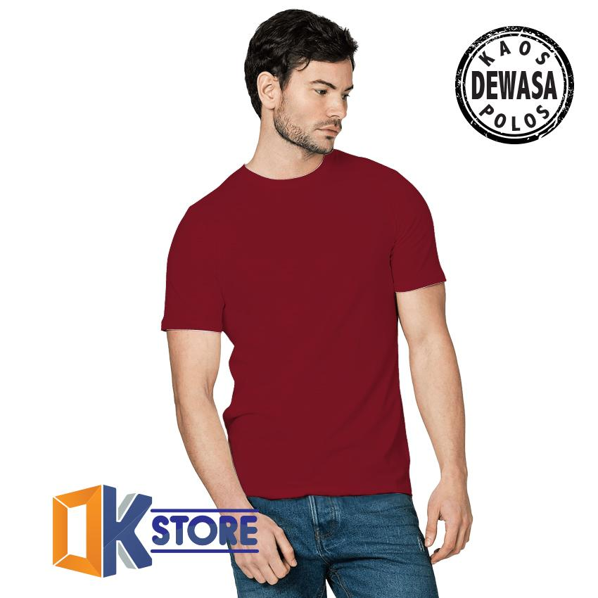 KaosOke-T-Shirt Pria Kaos Polos Pria Lengan Pendek Cotton Combed 30s - hitam