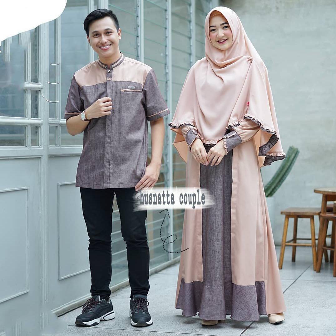 Husnatta Couple /Gamis / Gamis Couple Murah / Baju Wanita / Baju Pria /  Kemeja Couple / Baju Muslim Terbaru 8 / Model Gamis Terbaru / Baju  Couple
