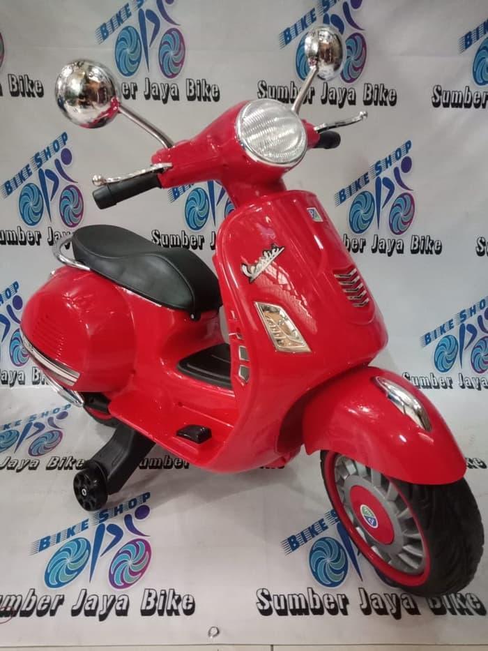 Mainan Motor Aki Anak Vespa Pmb M288 / Sepeda motor aki anak